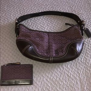 Small purple Coach purse with change purse.